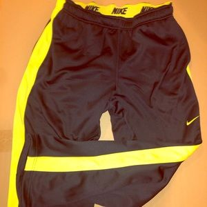 Nike Track/Lounge Pants, black with bright yellow